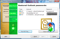 OUTLOOK Password Recovery : screenshot