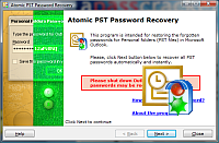 PST Password Recovery : screenshot