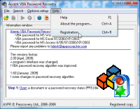 VBA Password Recovery : screenshot